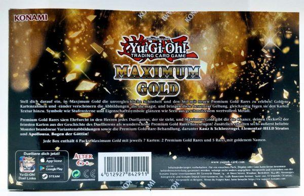 Rückansicht Maximum Gold Box